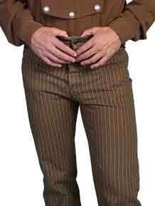 Wah Maker Rail Stripe Pant - Taupe - Men's Old West Pants | Spur Western Wear