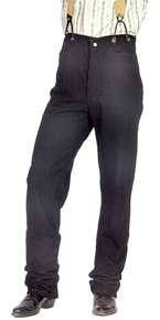 Scully Frontier Canvas Duckins Pant - Black - Men's Old West Pants | Spur Western Wear