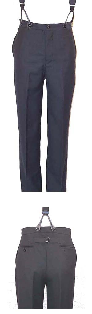 Wah Maker Highland Pant - Black - Men's Old West Pants | Spur Western Wear