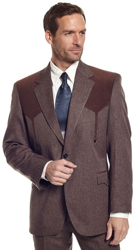Circle S Boise Western Suit Coat - Heather Brown - Men's Western Suit Coats, Suit Pants, Sport Coats, Blazers | Spur Western Wear