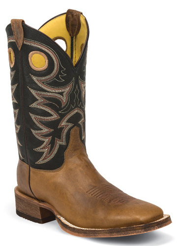 Justin Bent Rail Caddo Western Boot - Brown - Men's Western Boots | Spur Western Wear