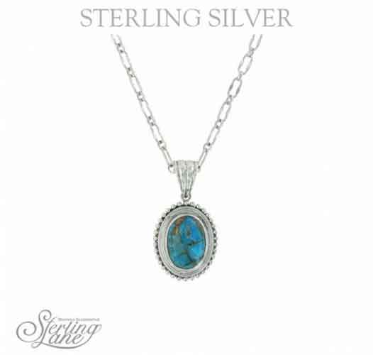 Montana Silversmiths® Sterling Lane Copper Earth Turquoise Necklace - Western Jewelry | Spur Western Wear