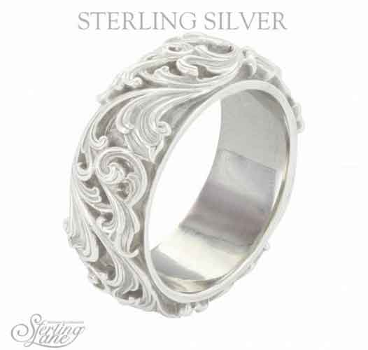 Montana Silversmiths® Sterling Lane Forever and Ever Wide Band - Western Jewelry | Spur Western Wear