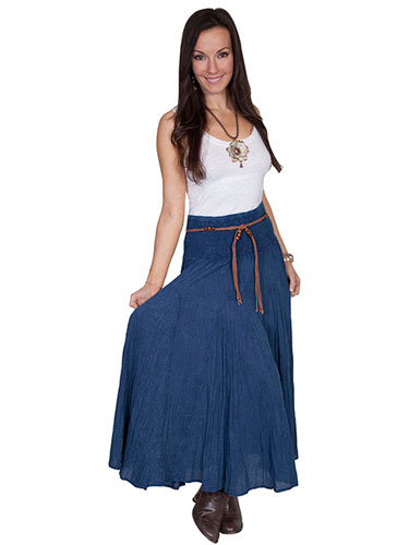 Scully Cantina Skirt - Dark Blue - Ladies' Western Skirts And Dresses | Spur Western Wear
