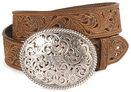 Tony Lama Floral Filigree Ladies Belt